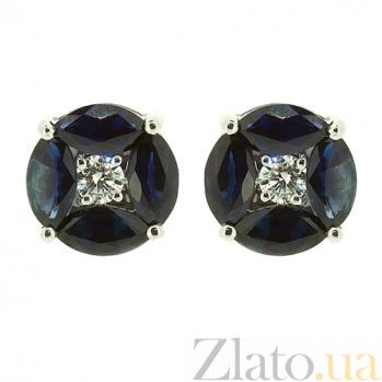 Золотые серьги с бриллиантами и сапфирами Дания ZMX--EDS-6774w_K