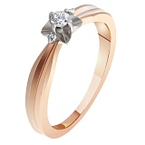 Золотое кольцо с бриллиантами Звезда
