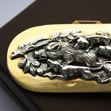 Серебряный зажим для денег Зарисовки охотника