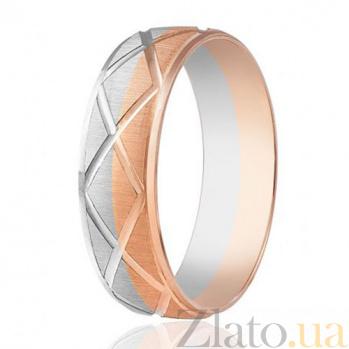 Золотое обручальное кольцо Узоры 000001652