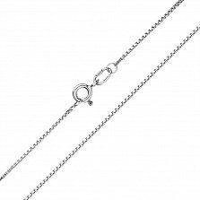 Серебряная родированная цепочка Квадрат в венецианском плетении, 1мм