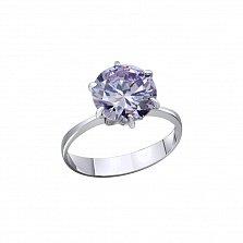 Серебряное кольцо Южные звезды с лиловым фианитом