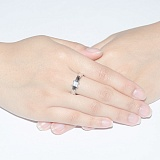 Кольцо из белого золота с бриллиантом огранки Принцесса