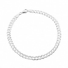 Серебряный браслет Тибальт, 22 см, 6 мм