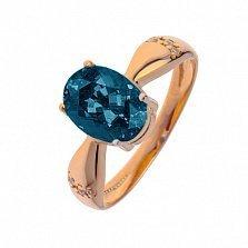 Кольцо в красном золоте Жаклин с лондон топазом и фианитами