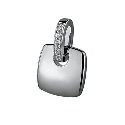 Серебряный кулон с бриллиантами Милос