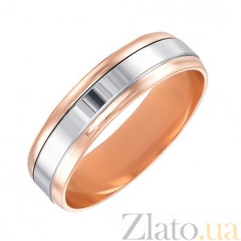 Золотое обручальное кольцо Признание в комбинированном цвете 000005243