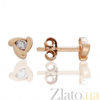 Золотые серьги-пуссеты Вольтер EDM--С0370-G