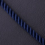 Шелковый синий шнурок Сильверс с гладкой золотой застежкой, 2мм