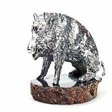 Серебряная статуэтка Кабан