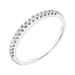 Кольцо из белого золота Энигма с бриллиантами