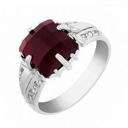 Серебряное кольцо Августа с гранатом