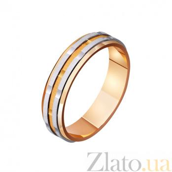 Золотое обручальное кольцо Линии жизни TRF--421105