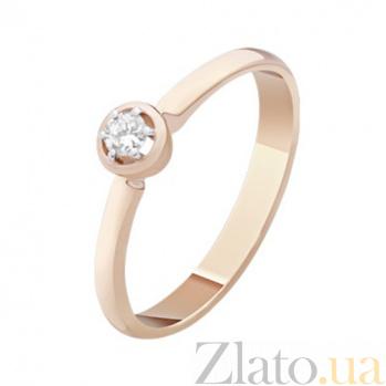 Золотое кольцо с бриллиантом Анетта KBL--К1064/крас/брил