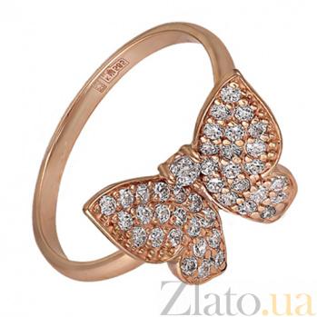 Кольцо в красном золоте Парящая бабочка с фианитами SVA--1190016101/Фианит/Цирконий