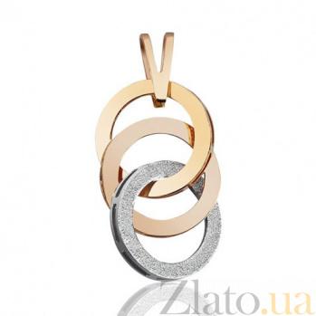 Золотой кулон Олимпиада EDM--П0263