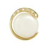 Золотой подвес с жемчугом и бриллиантами Марджи