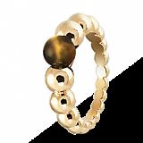 Кольцо из желтого золота с тигровым глазом Perlée
