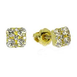 Серьги из желтого золота Айрис с бриллиантами