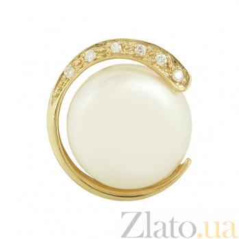 Золотой подвес с жемчугом и бриллиантами Марджи 1П193-0324