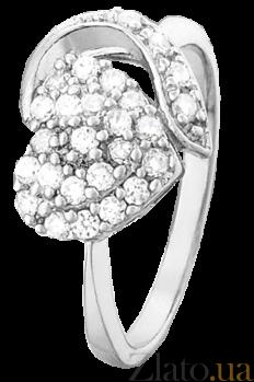 Серебряное кольцо с фианитами Любовная симфония 000025774