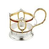 Подстаканник латунный Романтика чаепития
