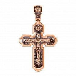 Крест из красного золота с иконами на тыльной стороне и черенеием 000126017