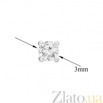 Серьги в белом золоте Полина с бриллиантами SVA--210077920201