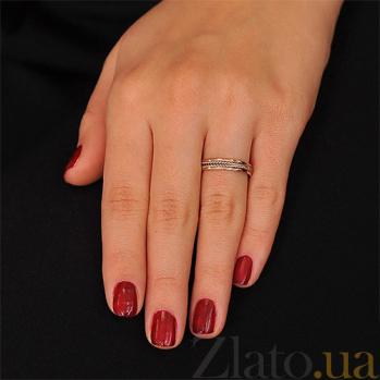Золотое обручальное кольцо Белая цепь 000001637