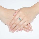Серебряное кольцо Консуэлла с зелёным агатом
