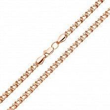 Цепочка из красного золота в плетении Арабский Бисмарк,4-5 мм 000121313