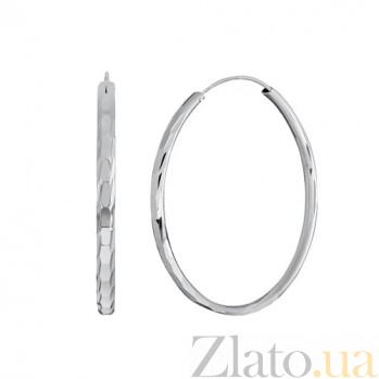 Серебряные серьги-кольца Колумбия SLX--С2/414