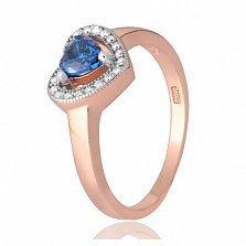 Позолоченное кольцо из серебра с цирконием Свет любви