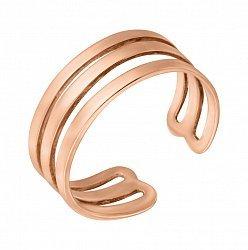 Фаланговое кольцо из красного золота 000121374