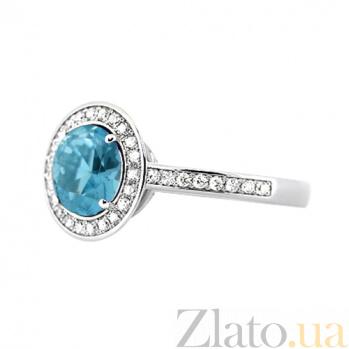 Золотое кольцо с топазом и бриллиантами Мария 000029504