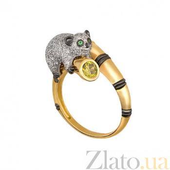 Золотое кольцо Лемур с фианитами VLT--ТТ1166