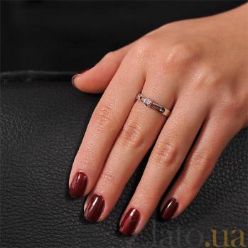 Кольцо из белого золота с бриллиантом Сияние EDM-КД7481/1