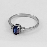 Золотое кольцо с сапфиром и бриллиантами Дэрин