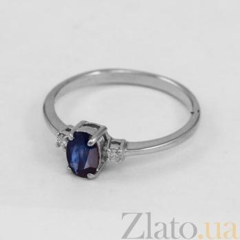 Золотое кольцо с сапфиром и бриллиантами Дэрин VLN--122-1536-14*