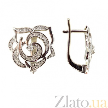 Серьги из белого золота с бриллиантами Хайди ZMX--ED-6516w_K