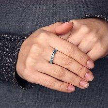 Золотое кольцо Альварра в белом цвете с голубыми топазами