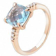 Золотое кольцо с топазом Айлин