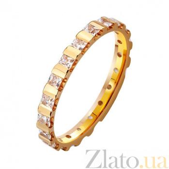 Золотое обручальное кольцо На благо и счастье с фианитами TRF--412930