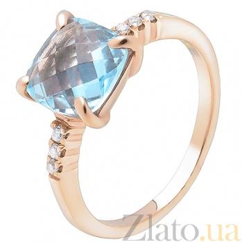 Золотое кольцо с топазом Айлин SUF--152012Т