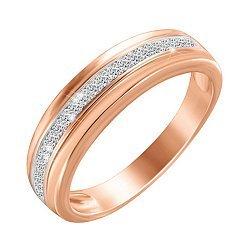 Серебряное кольцо с позолотой и фианитами 000052266