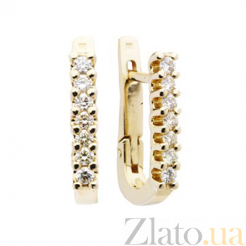 Золотые серьги с бриллиантами Джоан KBL--С2220/крас/брил