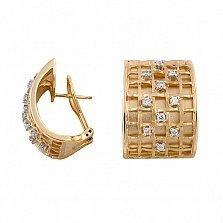 Серьги из желтого золота Невада с бриллиантами
