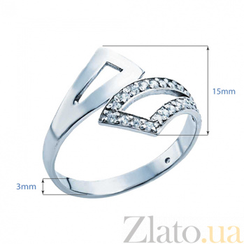 Серебряное кольцо с фианитами Гвинет 000027161