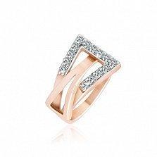 Позолоченное серебряное кольцо с цирконием Токио