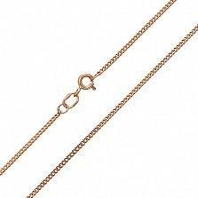 Золотая цепочка Гаррата в панцирном плетении с насечкой, 1,5мм